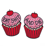 Sourpuss Cupcake Iron On Patch Set - Cobalt Heights