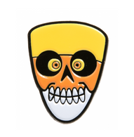 Sourpuss Candy Corn Skull Enamel Pin - Cobalt Heights