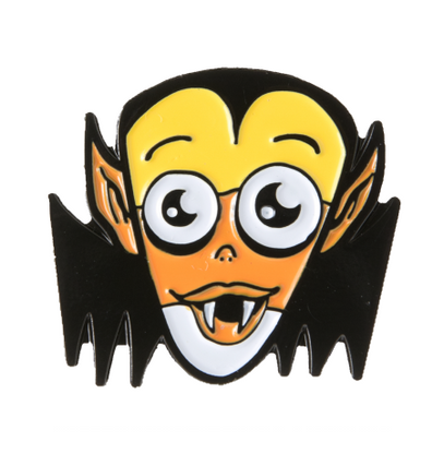 Sourpuss Candy Corn Vampire Enamel Pin - Cobalt Heights
