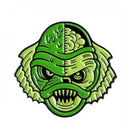 Sourpuss Swamp Monster Enamel Pin - Cobalt Heights