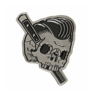Sourpuss Slick To Death Enamel Pin - Cobalt Heights