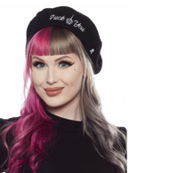 Sourpuss F You Beret - Cobalt Height