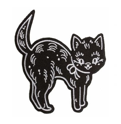 Sourpuss Creepheart Cat Iron On Patch - Cobalt Heights