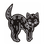 Sourpuss Creepheart Cat Iron On Patch - Cobalt Heights