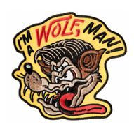 Sourpuss Wolfman Iron On Patch - Cobalt Heights
