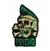 Sourpuss Psycho Iron On Patch - Cobalt Heights