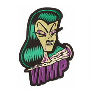Sourpuss Vamp Oversized Patch - Cobalt Heights