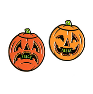 Sourpuss Trick Or Treat Enamel Pin Set - Cobalt Heights