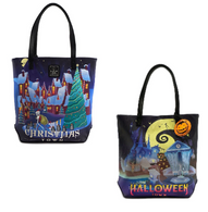 Loungefly X The Nightmare Before Christmas Double Sided Tote - Cobalt Heights