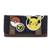 Loungefly X Pikachu Patch Canvas Wallet - Cobalt Heights