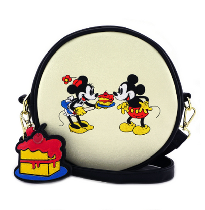 Loungefly X Disney Mickey and Minnie Birthday Crossbody Bag - Cobalt Heights