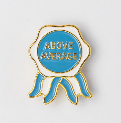 The Sunday Co Above Average Enamel Pin - Cobalt Heights