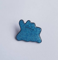 The Sunday Co Blue Glitto Enamel Pin - Cobalt Heights