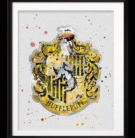Watercolour Inspired Hufflepuff Print Details - Cobalt Heights