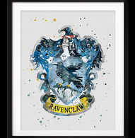 Watercolour Inspired Ravenclaw Print - Cobalt Heights