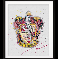 Watercolour Inspired Gryffindor Print - Cobalt Heights