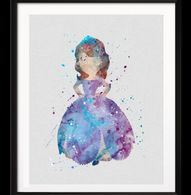 Watercolour Inspired The First Princess Print - Cobalt Heights