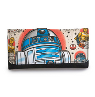 Loungefly X Star Wars R2D2 Flash Tattoo Trifold Wallet - Cobalt Heights