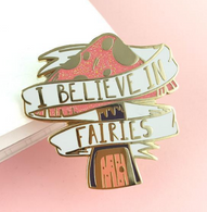 Jubly Umph I Believe In Fairies Lapel Pin - Cobalt Heights