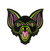 Sourpuss Bat Trouble Enamel Pin - Cobalt Heights