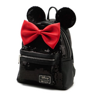 Loungefly X Disney Black Sequin Minnie Mouse Mini Backpack - Side - Cobalt Heights