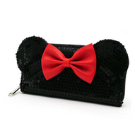 Loungefly X Disney Black Sequin Minnie Mouse Wallet - Cobalt Heights