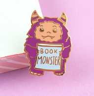 Jubly Umph Book Monster Lapel Pin - Cobalt Heights