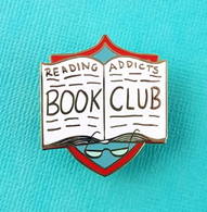 Jubly Umph Reading Addicts Book Club Lapel Pin - Cobalt Heights