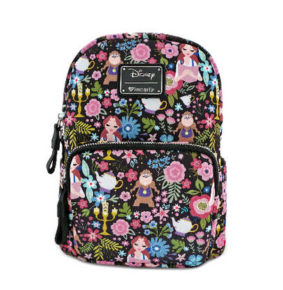 Loungefly x Disney Beauty and the Beast Character Mini Backpack - Cobalt Heights