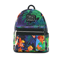 Loungefly X Disney Peter Pan Print Mini Backpack - Cobalt Heights