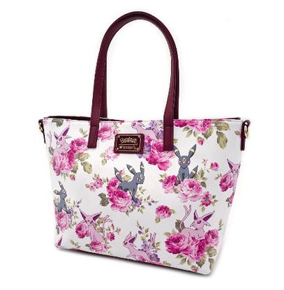 Loungefly X Pokemon Espeon and Umbreon Floral Tote Handbag - Cobalt Heights