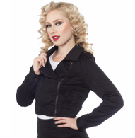Sourpuss Black Crop Jacket - Cobalt Heights