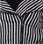 Sourpuss Stripe Crop Jacket - Close Up - Cobalt Heights