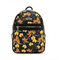 Loungefly X Marvel Black Panther Floral Mini Backpack - Cobalt Heights