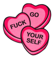 Sourpuss Candy Hearts Rug - Cobalt Heights