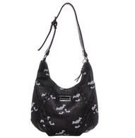 Sourpuss Triple Bats Hobo Purse - Cobalt Heights