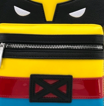 Loungefly X X-Men Wolverine Cosplay Mini Backpack - Close Up - Cobalt Heights