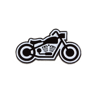 Sourpuss Kustom Kreeps Bike Enamel Pin - Cobalt Heights