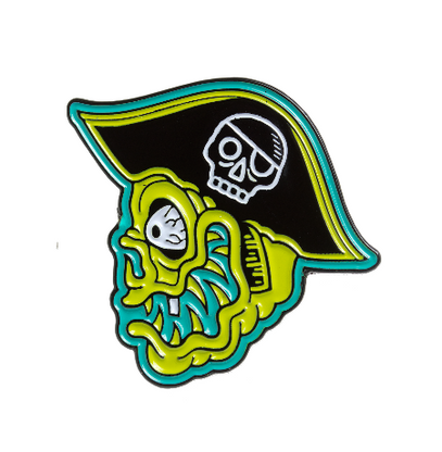 Sourpuss Fink Island Enamel Pin - Cobalt Heights