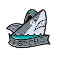 Sourpuss Psycho Shark Enamel Pin - Cobalt Heights
