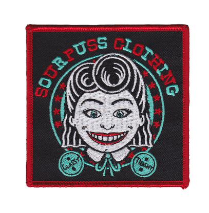 Sourpuss Tillie Iron On Patch - Cobalt Heights