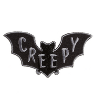 Sourpuss Creepy Bat Iron On Patch - Cobalt Heights