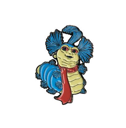 Labyrinth Enamel Pin - Ello Worm - Cobalt Heights
