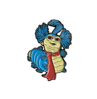 Labyrinth Enamel Pin - Ello Worm - Cobalt Heights