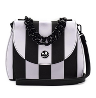 Loungefly X The Nightmare Before Christmas Black and White Purse - Cobalt Heights