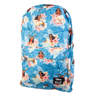Loungefly X Disney Moana Floral Backpack - Cobalt Heights