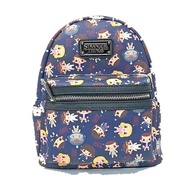 Loungefly X Stranger Things Eleven Chibi Print Mini Backpack - Cobalt Heights