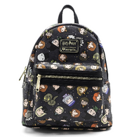 Loungefly X Harry Potter Chibi Print Mini Backpack - Cobalt Heights