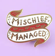Jubly Umph Mischief Managed Lapel Pin - Cobalt Heights
