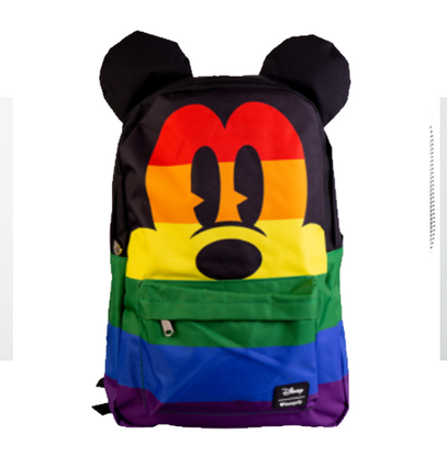 Loungefly X Disney Rainbow Mickey Mouse Backpack - Cobalt Heights